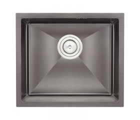 Мойка QT (интегрированная) Black D4843BL PVD 2.7/1.0 mm