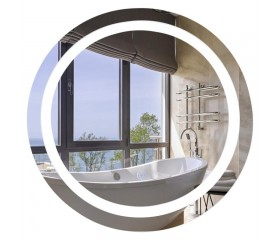 Зеркало настенное круглое LED 580х580 Lidz 140.08.01