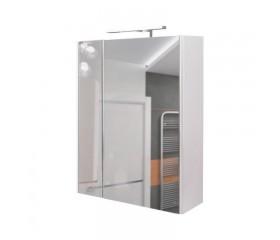 Зеркало Qtap Albatross зеркальный шкаф подвесной с подсветкой 600х700х145 WHITE