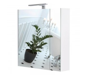 Зеркало Qtap Albatross зеркальный шкаф подвесной с подсветкой 700х725х460 WHITE