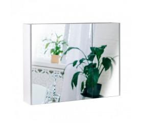 Зеркальный шкаф Qtap Scorpio подвесной 2 полки 800х600х145 WHITE