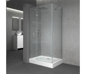 QT Душевая кабина CAPRICORN CRM1011SC6, квадрат, 100x100, стекло 6мм Clear, распаш., без поддона