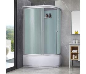 Гидробокс Lidz TANI SBM120x80L.SAT.HIGH.FR, высокий, стекло Frost 4мм + стенки WHI