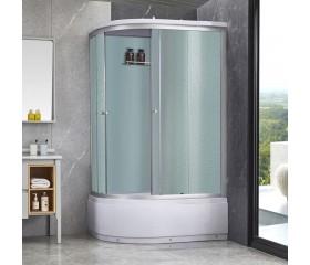 Гидробокс Lidz TANI SBM120x80R.SAT.HIGH.FR, высокий, стекло Frost 4мм + стенки WHI