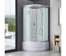 Гидробокс Lidz TANI SBM100x100.SAT.HIGH.FR, высокий, стекло Frost 4мм + стенки WHI
