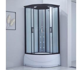 Гидробокс Lidz MAJĄTEK SBM100x100.BLA.HIGH.TR, высокий, стекло прозр. 5мм + стенки WHI