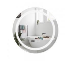 Зеркало Qtap Mideya LED с антизапотеванием, время, темп. DC-F803 600х600