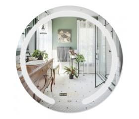 Зеркало Qtap Mideya LED с антизапотеванием, время, темп. DC-F802 600х600